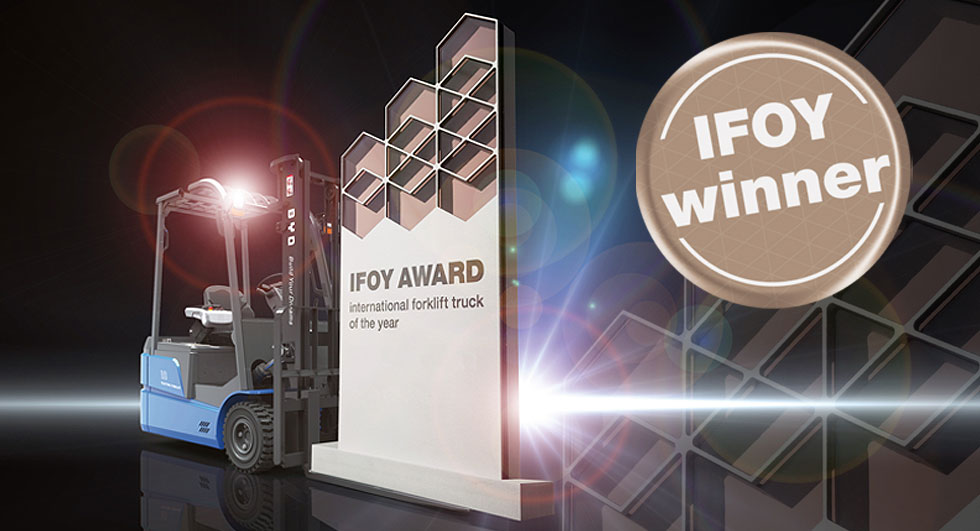IFOY Gewinner BYD ECB18C ist international forklift truck of the year auf der CeMAT 2016